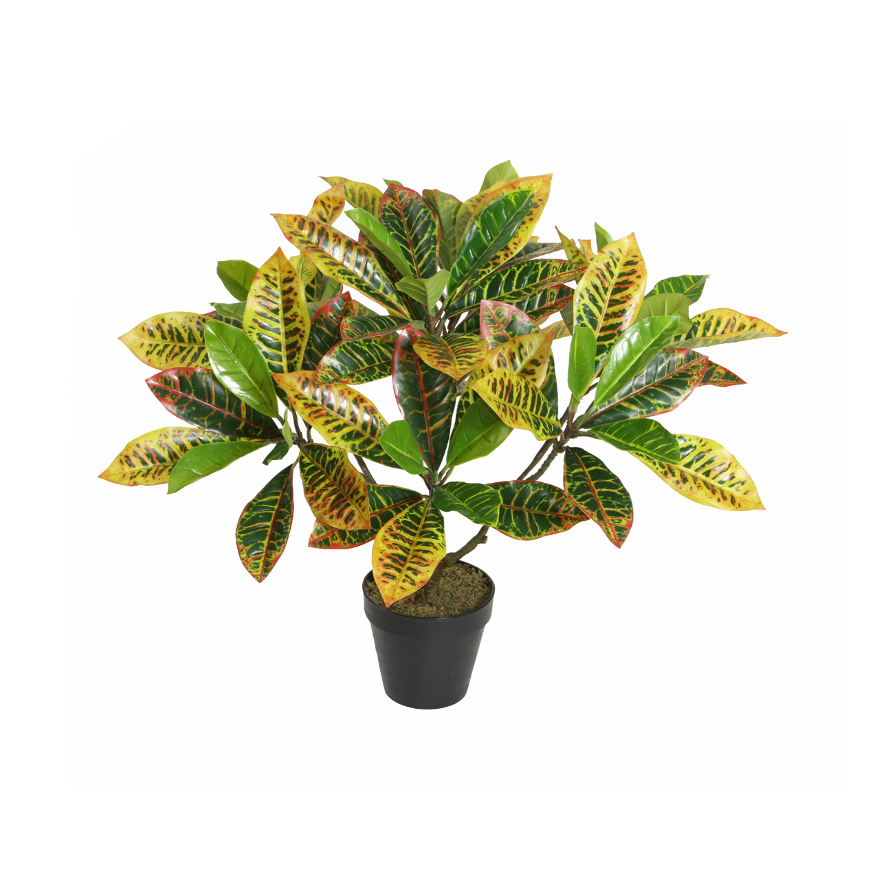 ARTIFICIAL CROTON PLANT 65CM POTTED