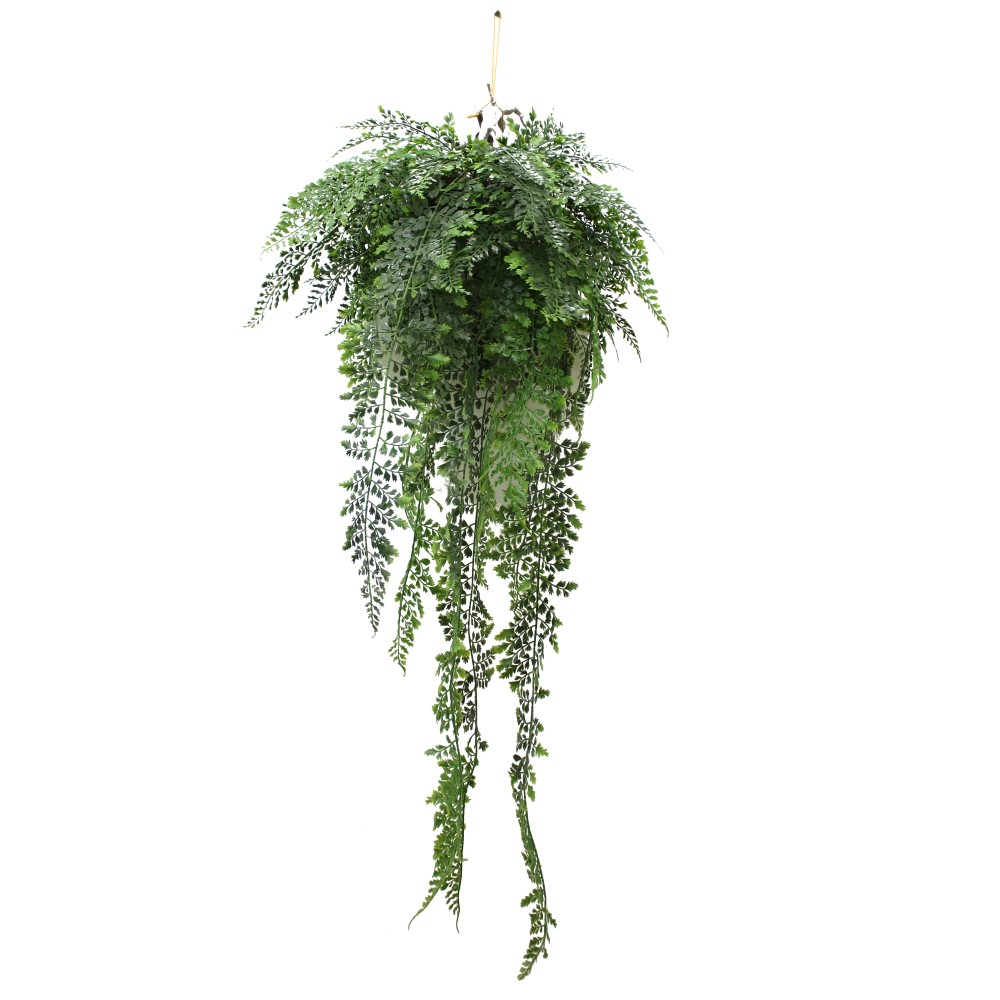 Artificial Fern In Small Hanging Basket